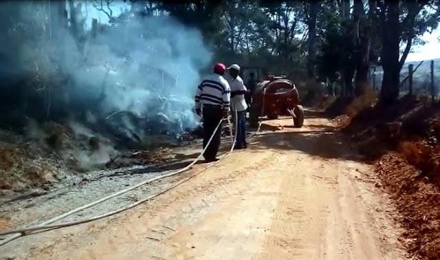 Incêndio em pasto assusta moradores na zona rural de São João