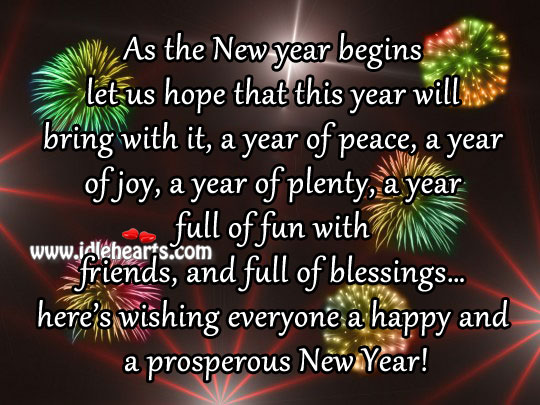Happy New Year 2017 Wishes Greetings Facebook Status