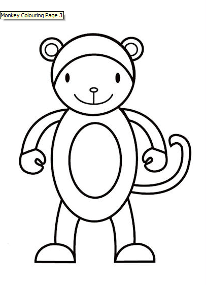 Cute Monkeys Coloring Pages - GetColoringPages.com | 561x406
