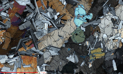 Thin Section of Apollo Basalt 14053 in Cross Polarized Light
