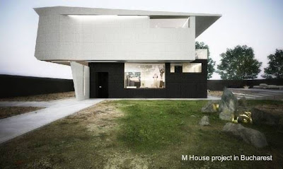 Casa residencial de dos plantas perfil contemporáneo ubicada en Bucarest, Rumania