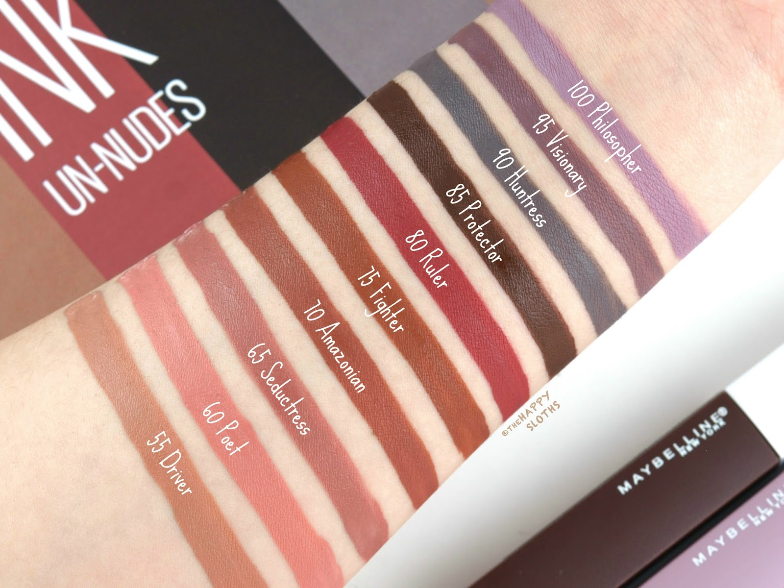 Maybelline | SuperStay Matte Ink Un-Nudes Collection: Review and Swatches