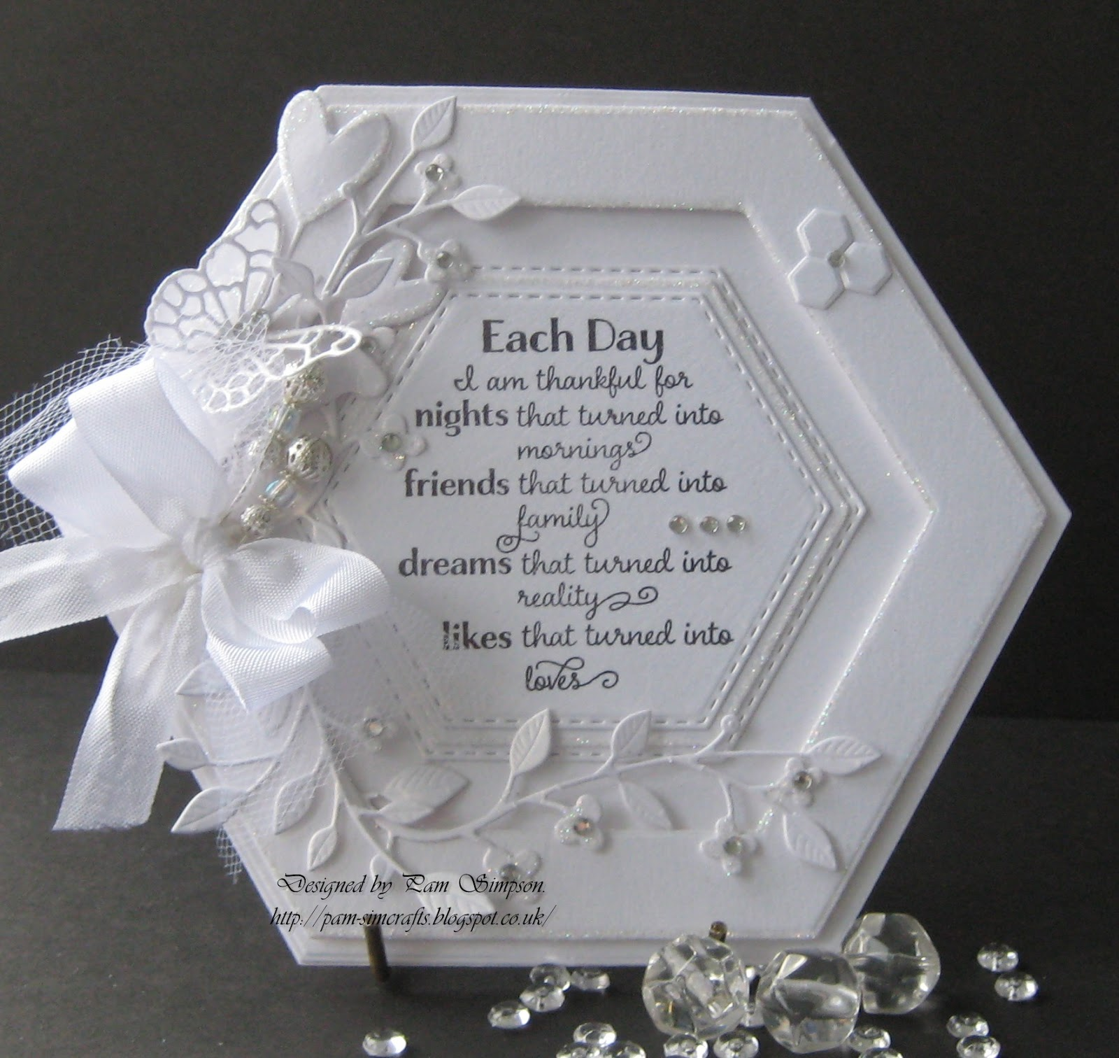 picture frane ideas for mothers day - pamscrafts White White Hexagon Card