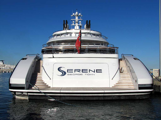 Serene superyacht, IMO 1010090, port of Livorno