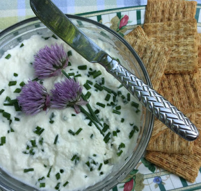 Herb seasoned homemade ricotta cheese