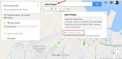 masukan nama jalan di Google Maps