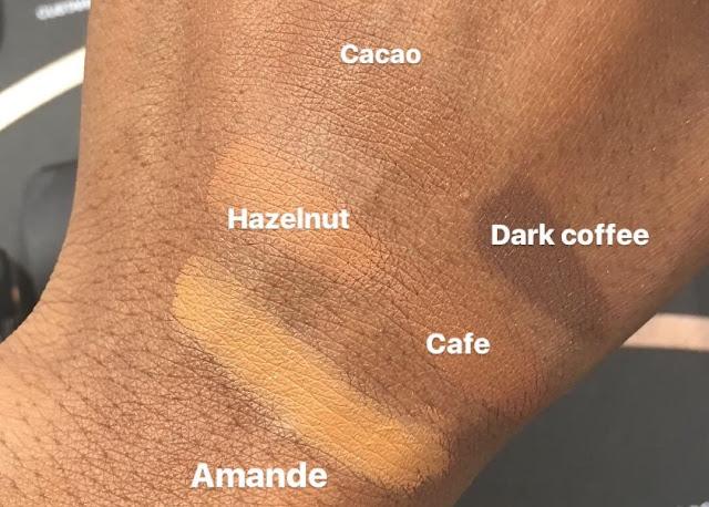 Nars Soft Matte Concealer Dark Skin Swatches | bellanoirbeauty.com