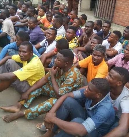 133 badoo cult members arrested ikorodu lagos