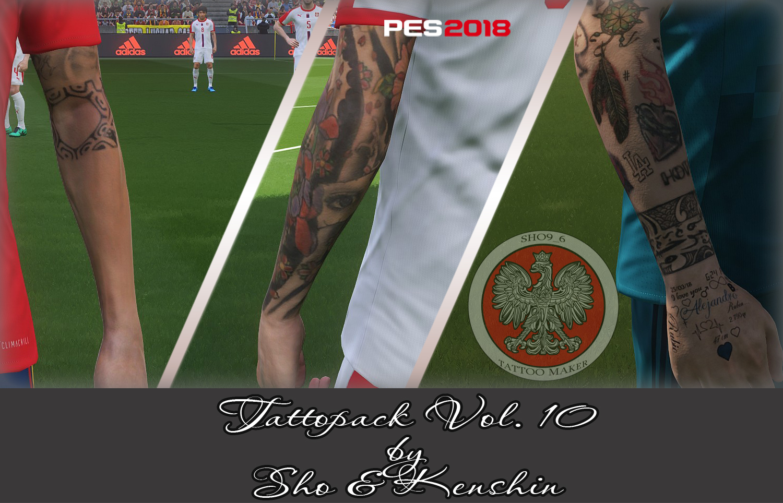 PES 2018 Tattoopack Vol.10 by Sho & Kenshin