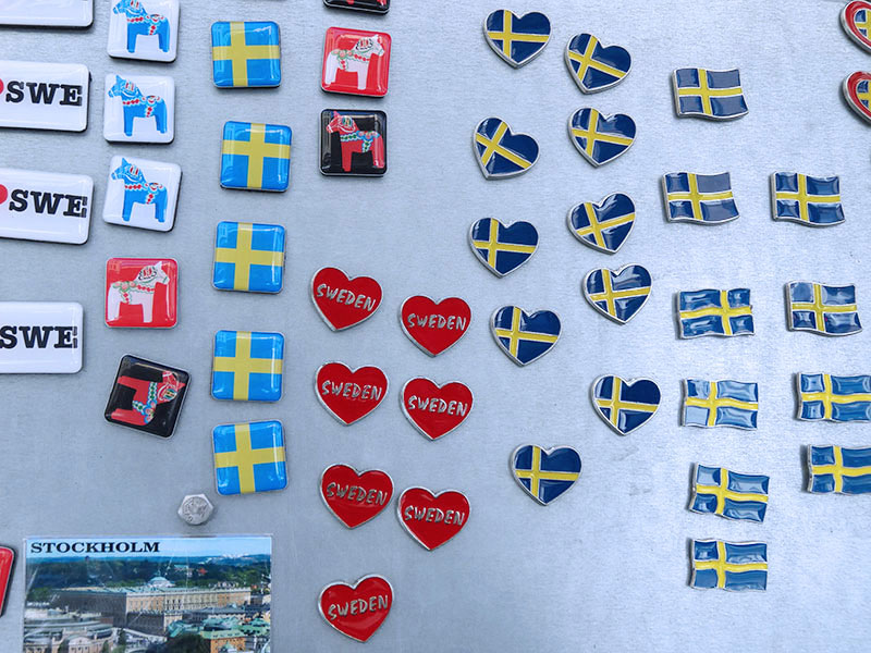 Swedish magnets from souvenir shops