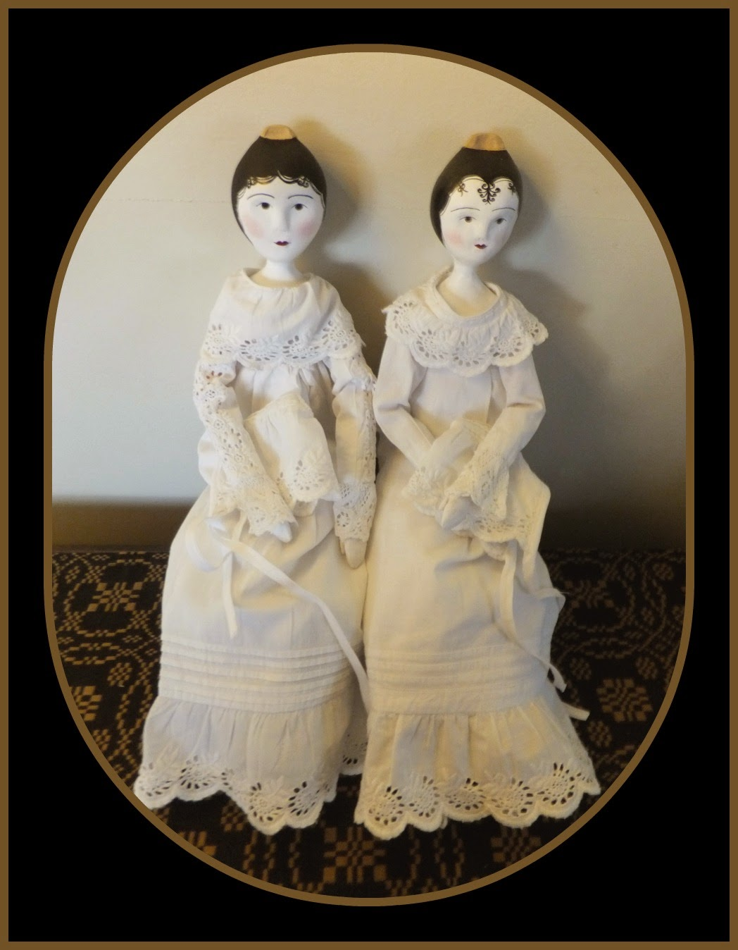 Wooden Tuck Comb Dolls