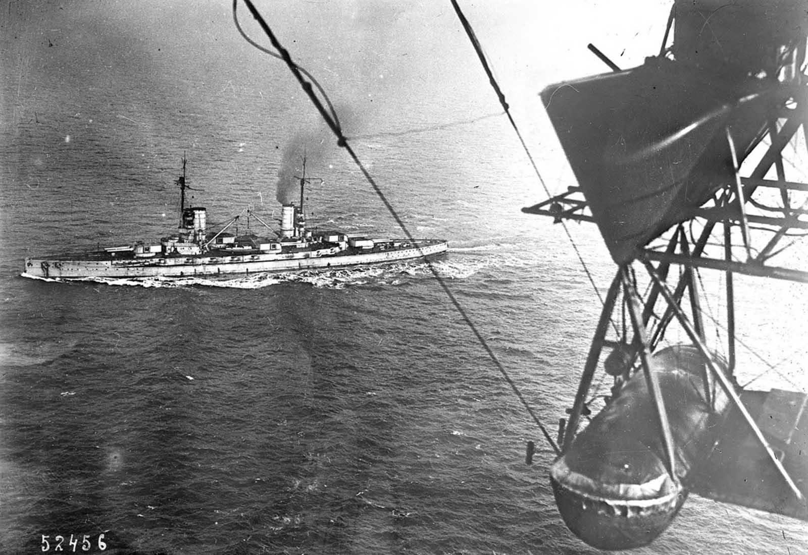 A német flotta feladása Harwichban, 1918. november 20-án.