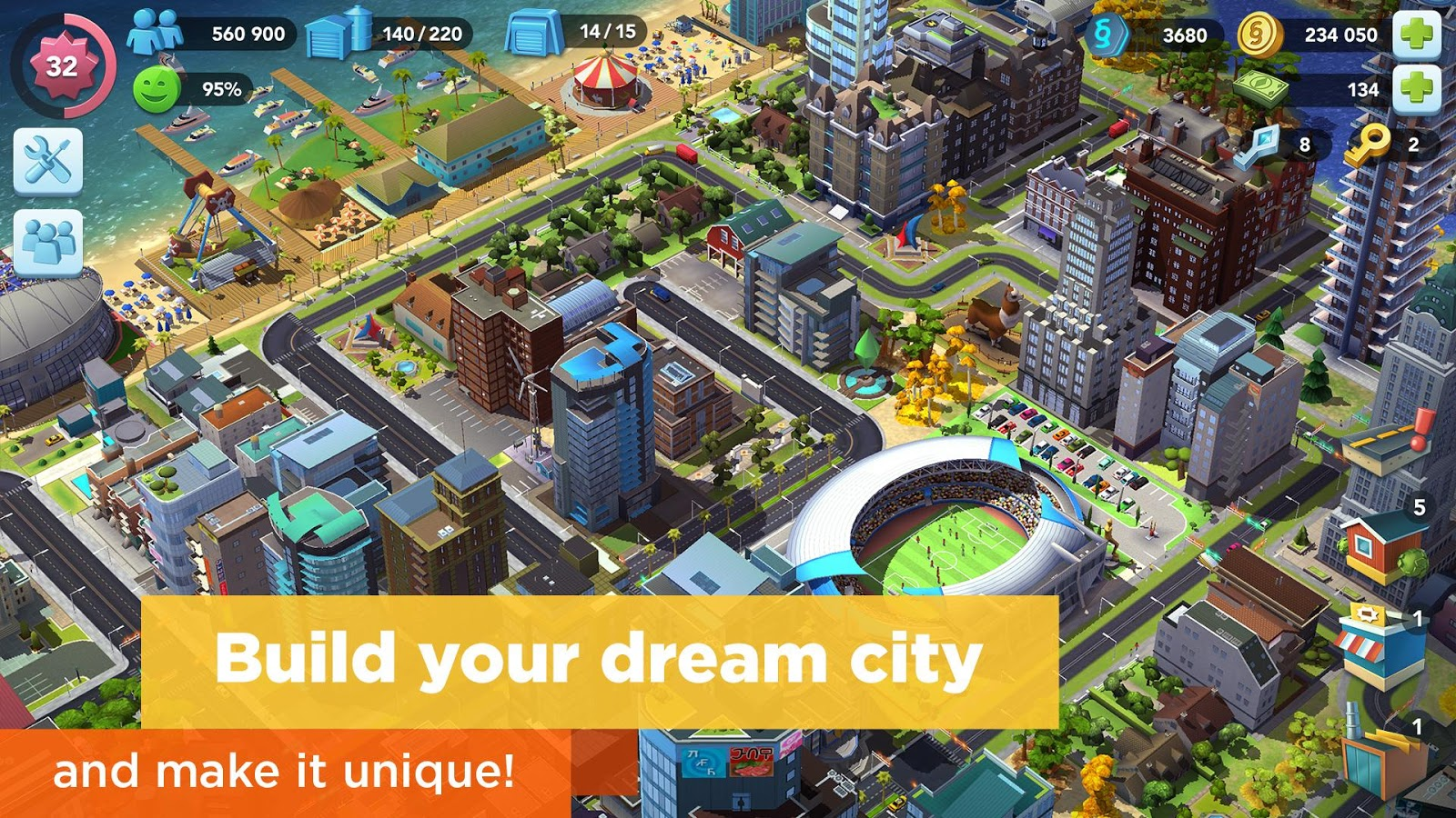 Download SimCity BuildIt MOD APK Terbaru