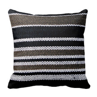 Kikoy print throw pillow