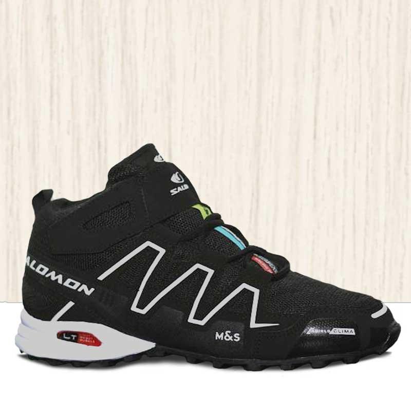 Sepatu Gunung Salomon High Hitam Putih SGH 005
