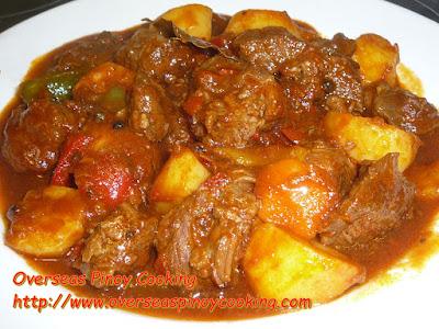 Beef Mechado, Pinoy Version
