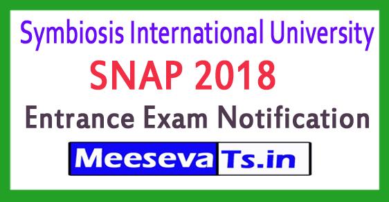 SNAP Symbiosis International University MBA Entrance Exam Notification 2017-18