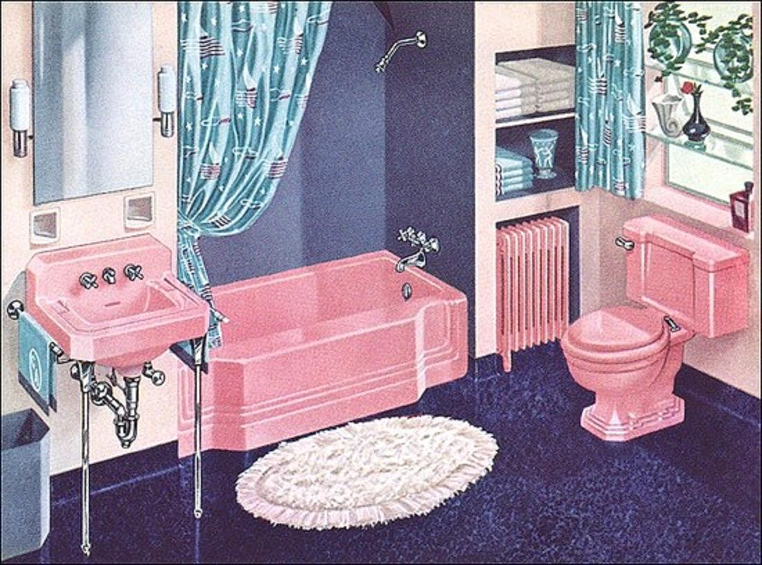 Farm Girl Pink Pink Bathrooms The Vintage Years