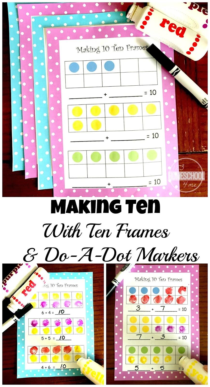 Worksheets Ten Frames Worksheets free making 10 ten frames