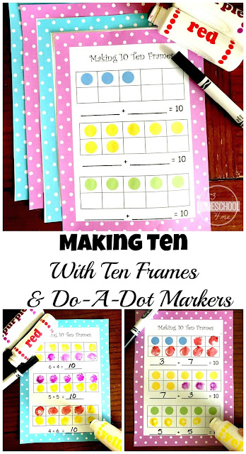 FREE Make 10 Ten Frames - make 10 fun and easy for prek, kindergarten, and first grade kids to grasp with these free printable ten frames worksheets