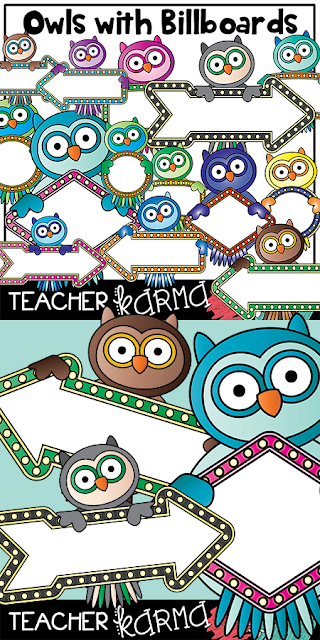Owl frames for teachers TeacherKARMA.com