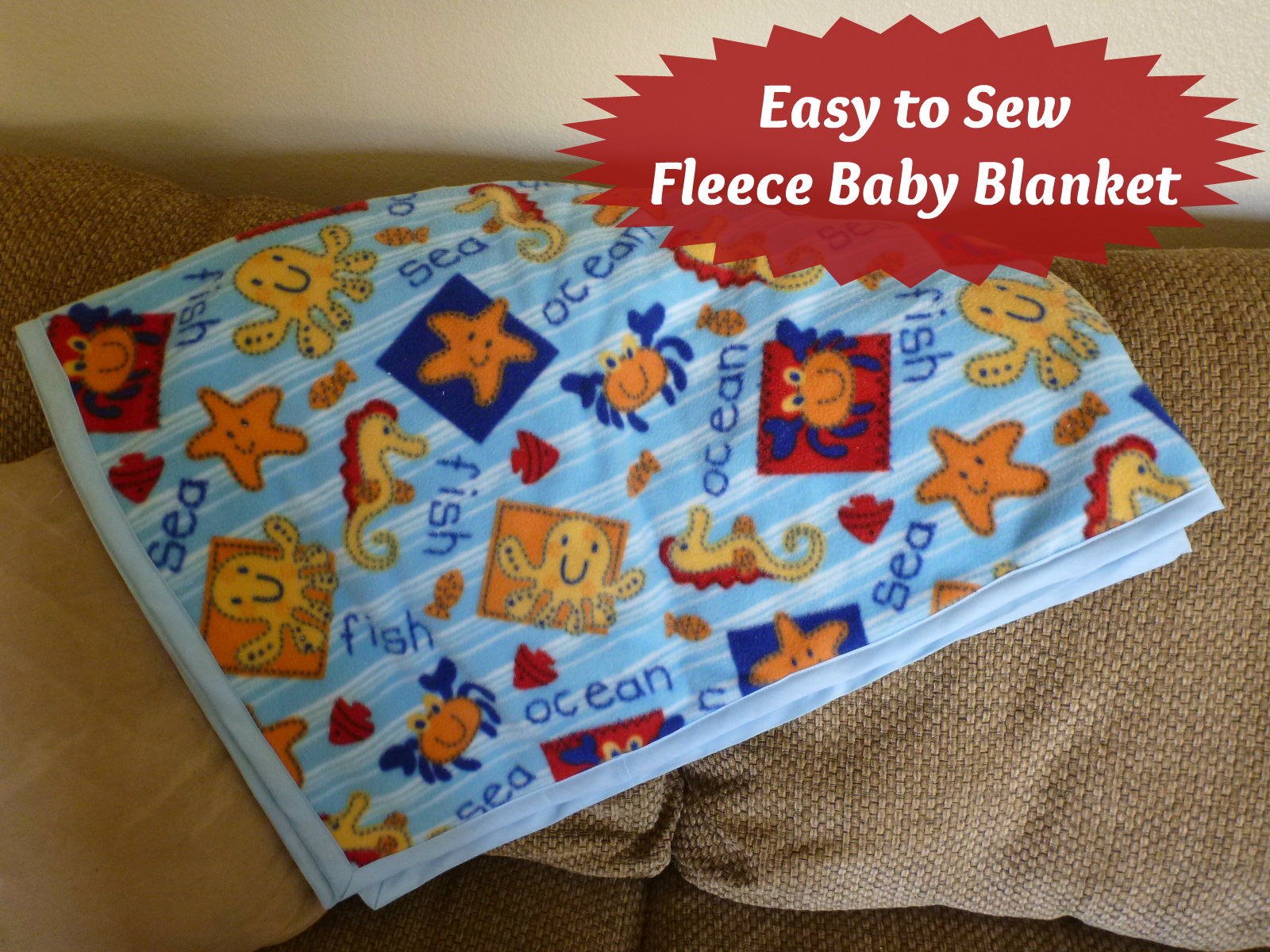 How To Make A Baby Blanket Clearwater Cottage Easy To Sew Fleece Baby Blanket