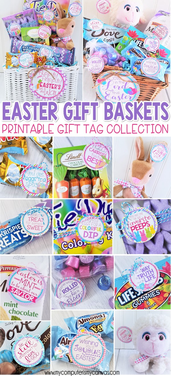 My computer is my canvas easter printables basket stuffers more she made us not one but two easter basket gift tag sets one is christian religious and the other is bunny ish best part is she used the same negle Choice Image