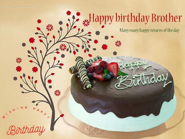 Wishing Happy Birthday To Brother