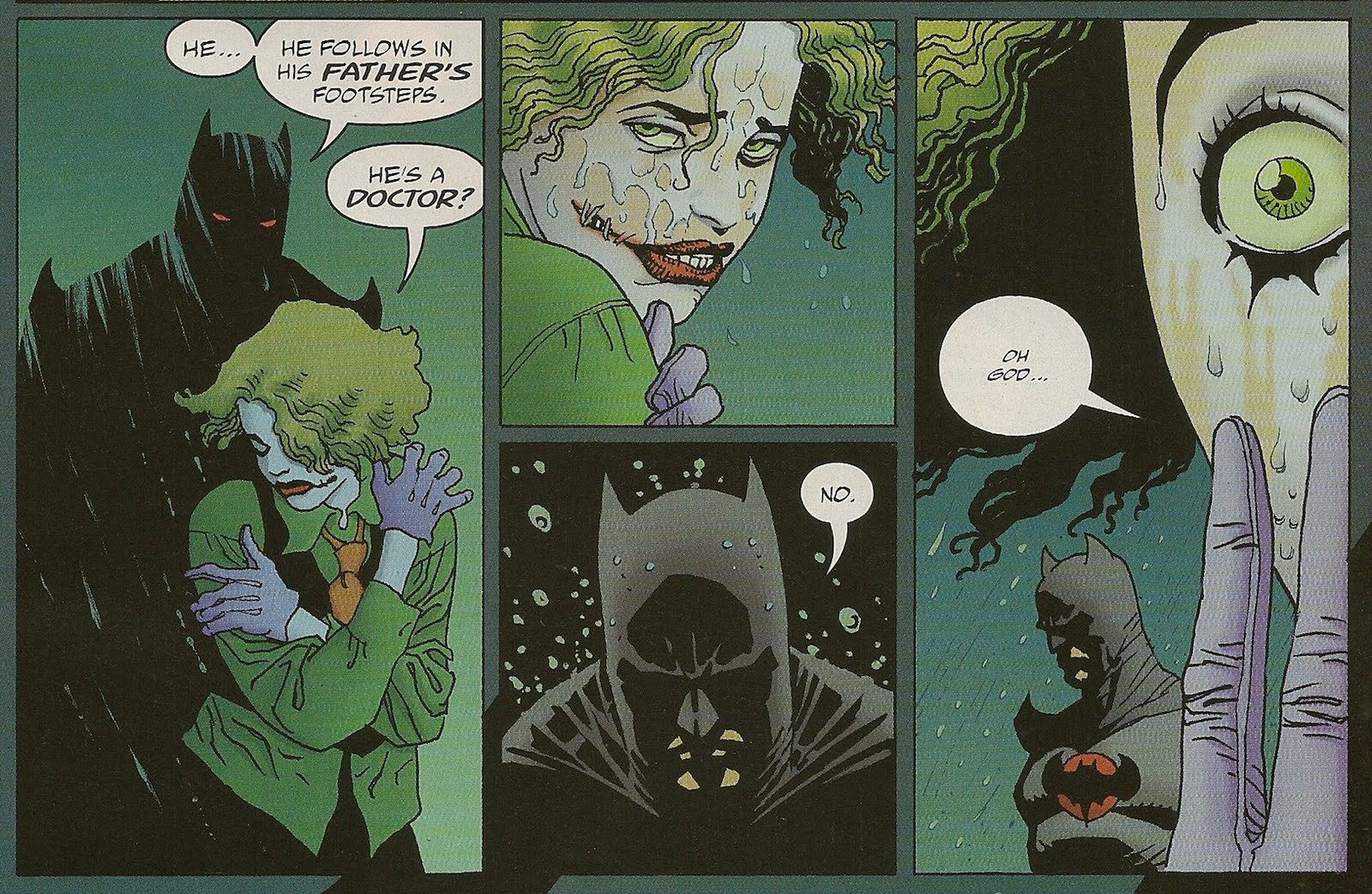 In an alternate time line, Bruce Wayne is killed by the mugger in