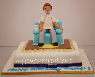 My Sugar Creations 001943746 M Man In Couch Cake