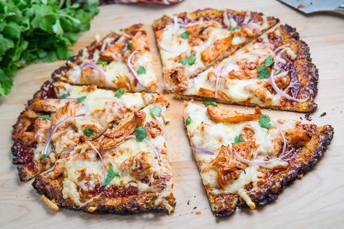 Paleo Barbecue Ham Pizza