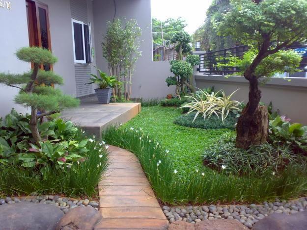 gambar desain taman rumah minimalis 2017