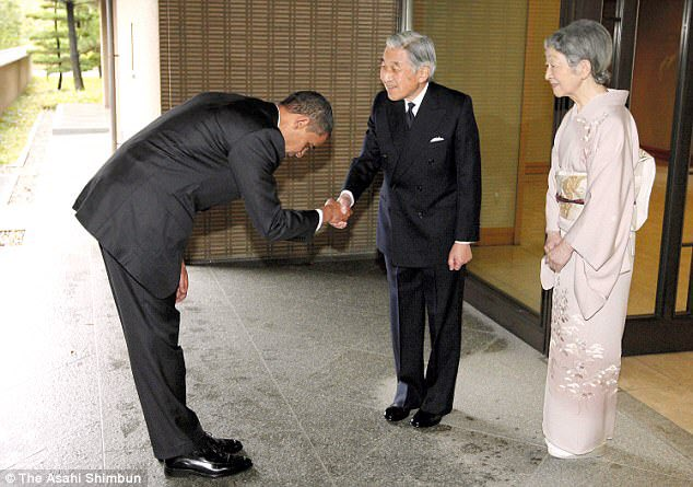 See the stark difference between Obama and Trump when they met the Japanese emperor
