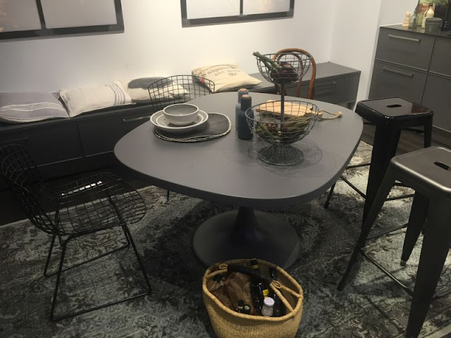 Small Multifunctional Plug-in Side Table Style Small Multifunctional Plug-in Side Table Style irregular dining table in black