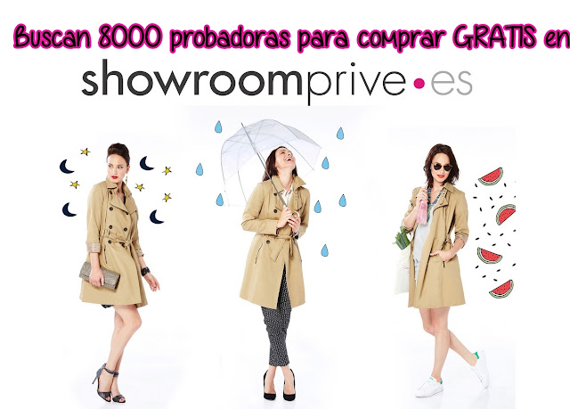 Buscan 8000 probadoras para comprar Gratis en Showroomprivee