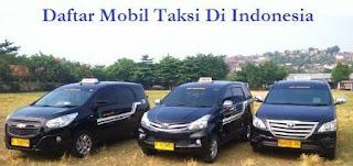 Daftar Mobil Taksi Di Indonesia