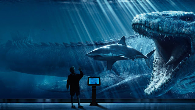 Papel de parede Jurassic World Mosasaurus para PC, Notebook, iPhone, Android e Tablet.