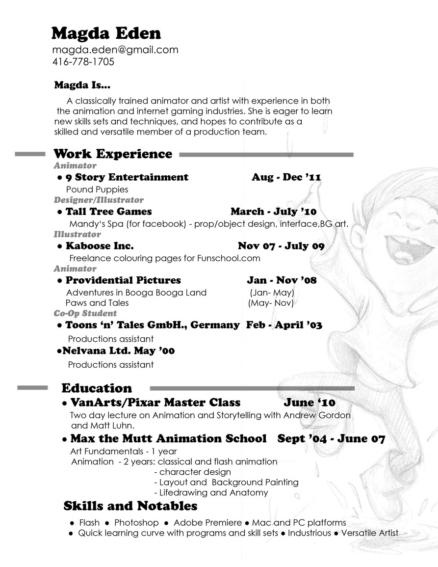 resume 2011