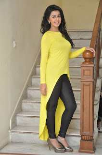 Actress Nikki Galrani Latest Picture Gallery in Yellow Top and Tights  0039.jpg
