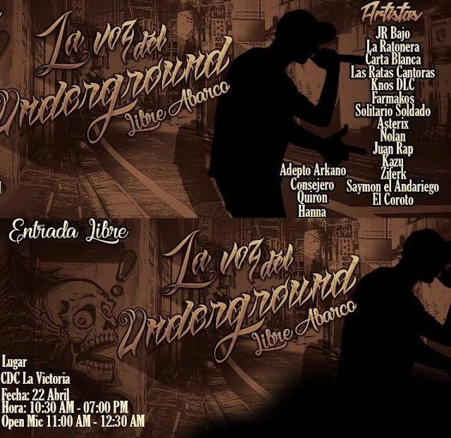 Festival: La Voz Del Underground Libre Abarco en Bogota 22 de Abril   2018