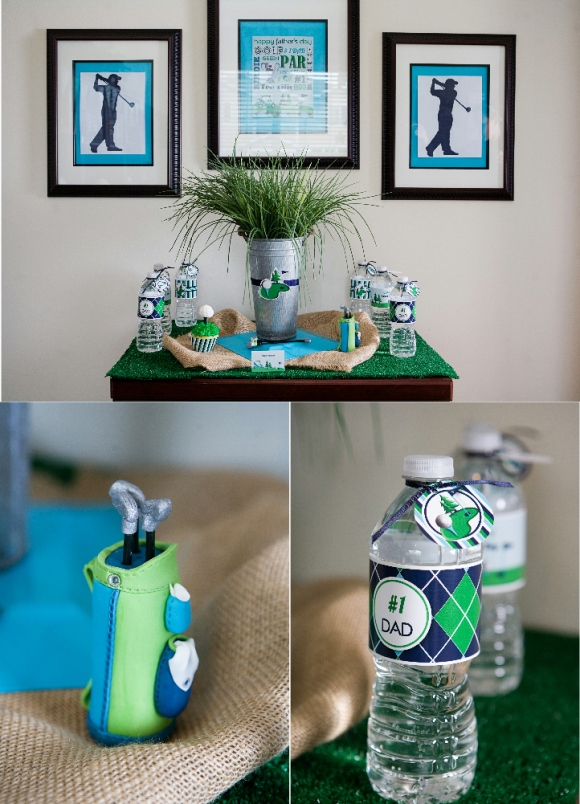 Father 39 s day party ideas a green blue argyle golf par for B day party decoration
