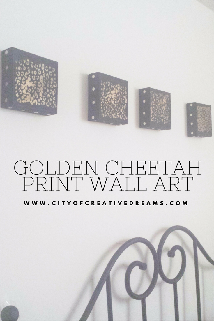 Golden Cheetah Print Wall Art | City of Creative Dreams