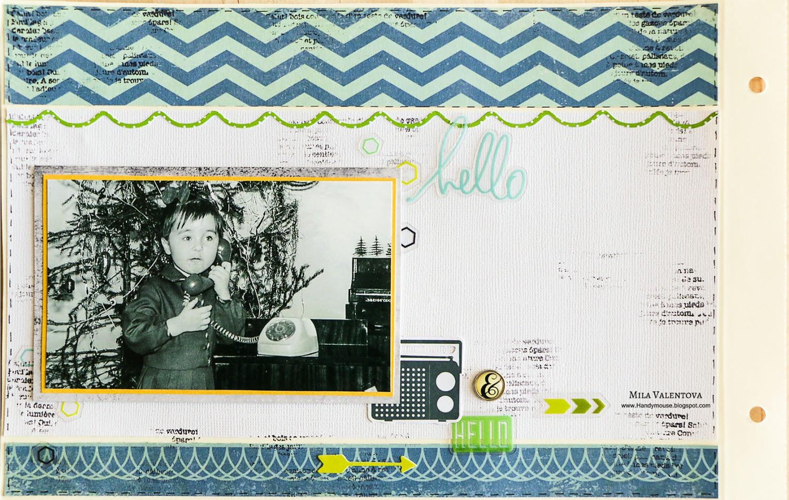Скрапбукинг. Детство 1977-78 года. Мила Валентова