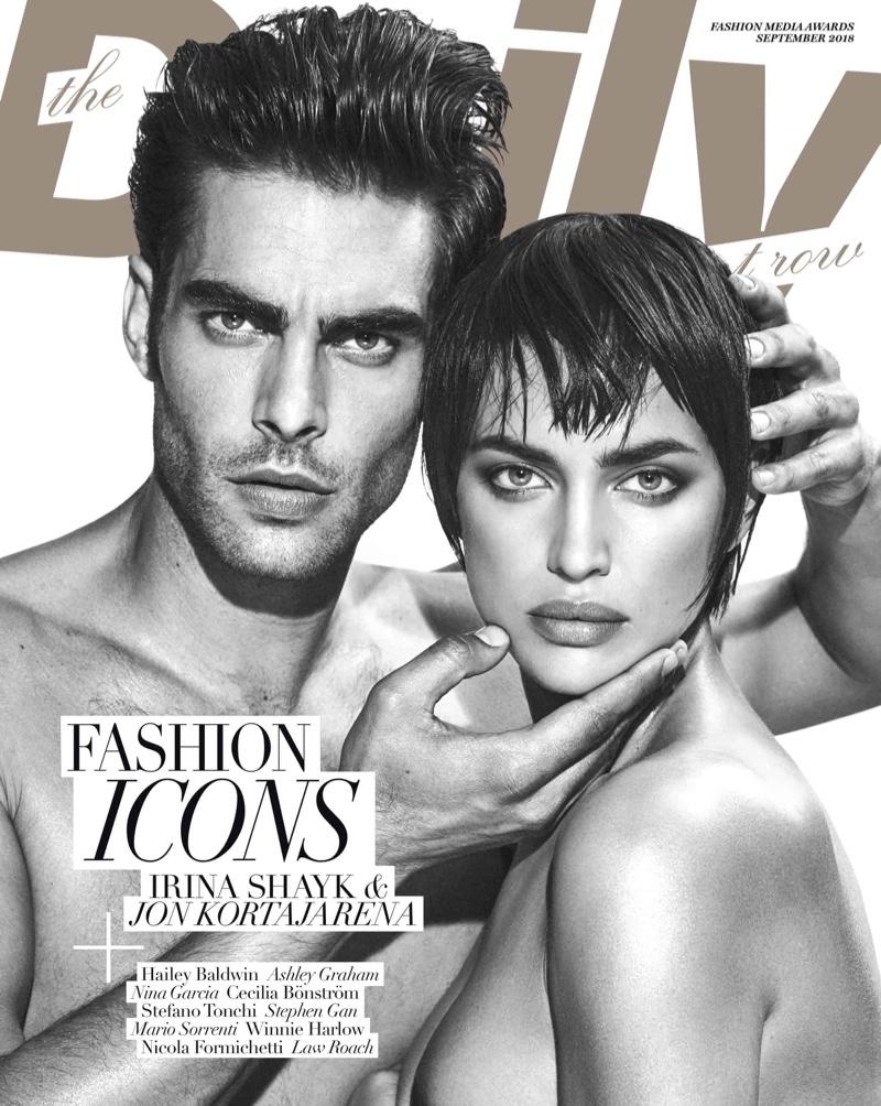 Irina Shayk & Jon Kortajarena for The Daily Front Row September 2018