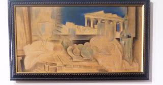 το έργο Νεκρή Φύση με την Ακρόπολη στο Βάθος του Κωνσταντίνου Παρθένη στην Εθνική Πινακοθήκη