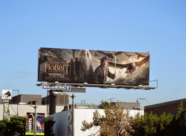 Hobbit Battle of the Five Armies movie billboard