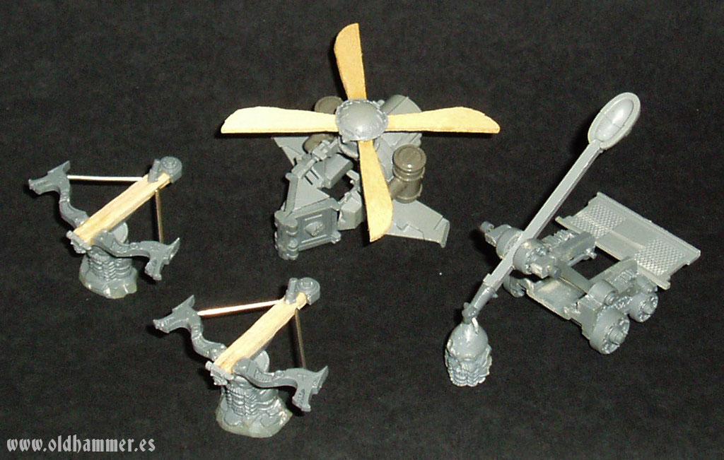 dwarf war machines conversion maquinas de guerra enanos warhammer