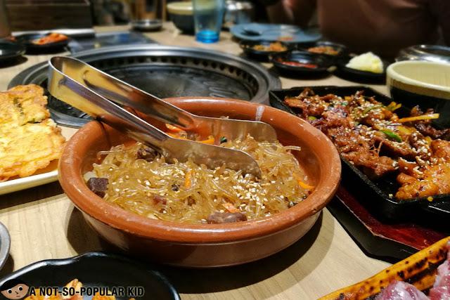 Japchae of Soban K-Town Grill