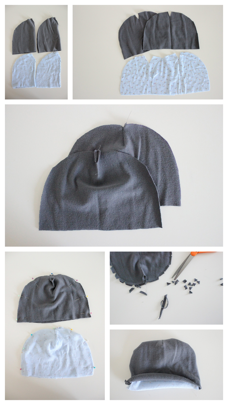 Ribbed Beanie Free Pattern and Tutorial b820e0ddea0