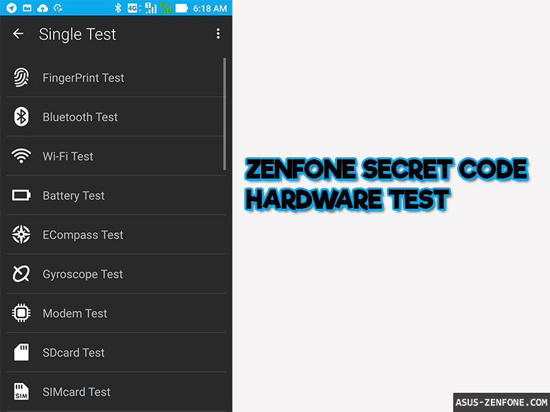 ASUS ZenFone Secret Code Hardware Test ~ Asus Zenfone Blog